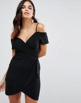 Love Bardot Cold Shoulder Dress