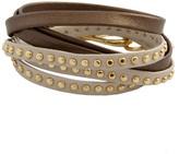 Alexandra Beth Designs Two-tone Leather Wrap Bracelet