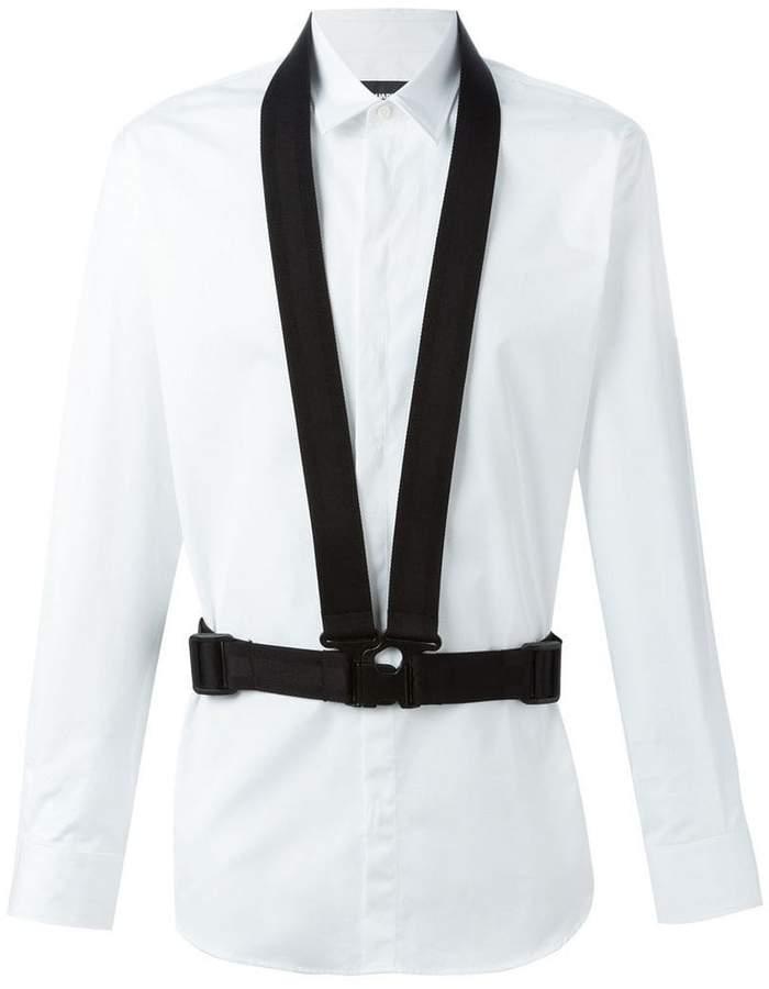 DSQUARED2 buckle strap detail shirt