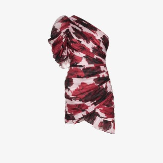 Alexandre Vauthier Printed Pouf Sleeve Mini Dress