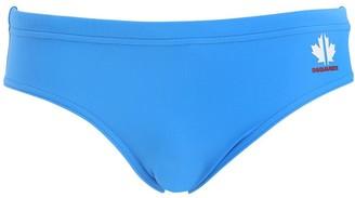 Dsquared2 Underwear Maple Leaf Band Nylon Swim Briefs