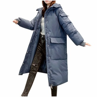 jieGorge Winter Long Down Jacket 2020 Women Cotton-Padded Jacket Down mid-Length Loose Lady Winter