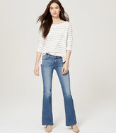 LOFT Tall Flare Jeans in Mid Indigo Wash
