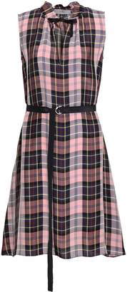 Pringle Checked Woven Mini Shirt Dress