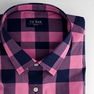 The Tie Bar Buffalo Check Bright Pink Shirt