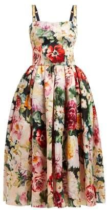 Dolce & Gabbana Floral Print Silk Organza Dress - Womens - Multi