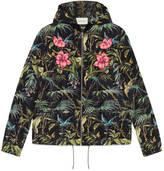 Gucci Tropical print nylon jacket