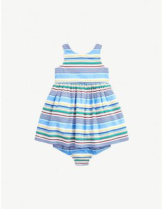 Ralph Lauren Striped cotton dress and bloomers set 6-24 months