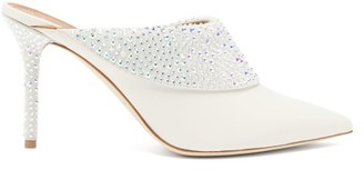 Malone Souliers Tilly Crystal-embellished Leather Mules - White