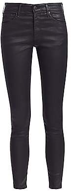 AG Jeans Women's Farrah Skinny Ankle High-Rise Coated Jeans