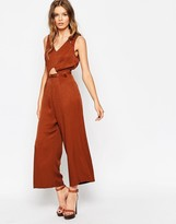 Asos Jumpsuit With Open Back And Self Belt