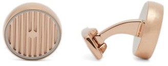 Deakin & Francis Striped Rose Gold-plated Cufflinks - Rose Gold