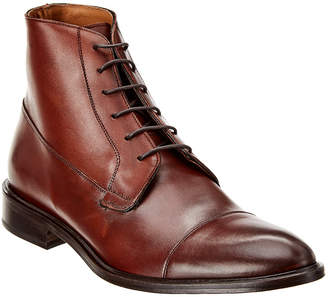 L'unica Cosa Cap Toe Lace-Up Leather Boot