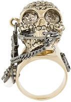 Alexander McQueen piercing skull ring