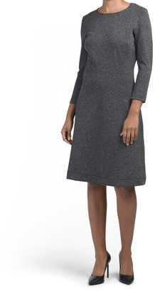 Three-quarter Sleeve Carly Fit And Flare Dress