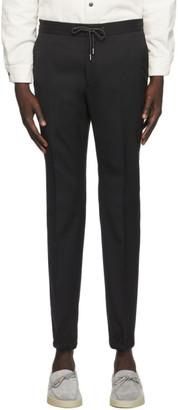 Ermenegildo Zegna Black Elastic Waist Dress Trousers