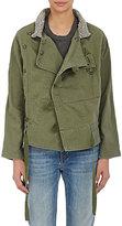 NSF Women's Swede Jacket-GREEN, GREY, DARK GREEN