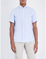 Armani Collezioni Regular-fit Linen Short-sleeved Shirt