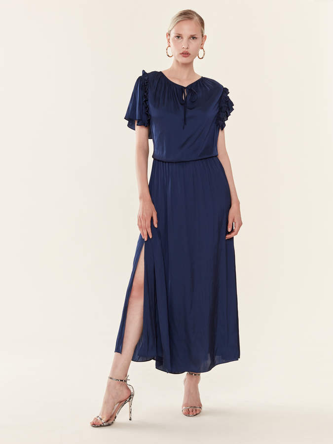 Zadig & Voltaire Rulle Satin Maxi Dress