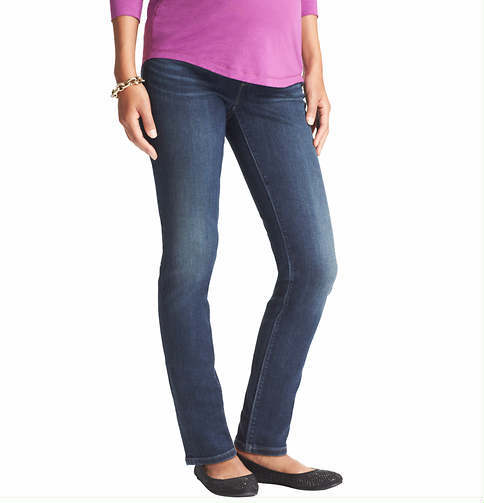LOFT Maternity Skinny Jeans in Hinted Blue Wash