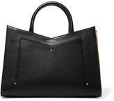 Sara Battaglia Plisse Leather Tote - Black