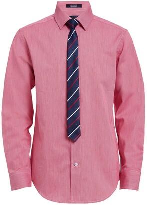Tommy Hilfiger Mini Houndstooth Shirt & Tie