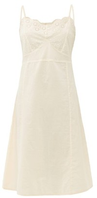 Domi - Embroidered Organic-cotton Nightgown - Womens - Light Pink