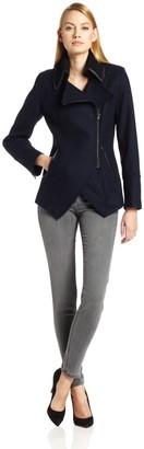 Trina Turk Women's The Abbey Wool Moto Coat