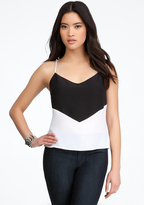 Bebe Colorblock Silk Tank