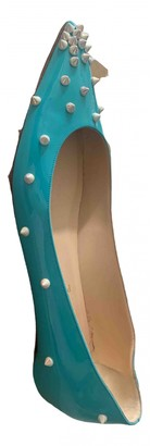 Christian Louboutin Turquoise Patent leather Ballet flats
