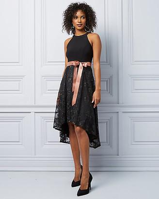 Le Château Knit & Lace High-Low Cocktail Dress