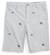 Vineyard Vines Toddler Boy's Breaker Football & Whale Embroidered Shorts