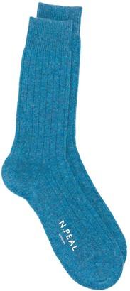 N.Peal Ribbed Ankle Socks
