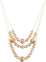 Fragments for Neiman Marcus Triple-Row Beaded Crystal Necklace
