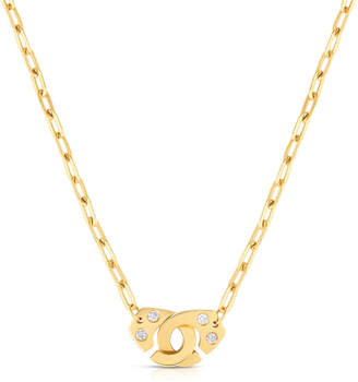 Audrey C. Jewels Extra Large Partners in Crime 18k Gold Necklace w/ Diamonds