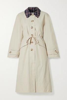 Barbour + Alexachung Glenda Cotton-blend Coat - Beige
