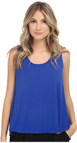 Heather Scoop Neck Boxy Tee