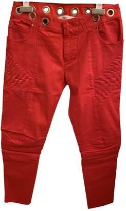 Pierre Balmain \N Red Cotton Jeans for Women