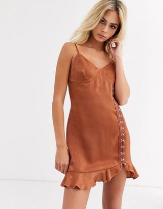 Wild Honey slip dress in soft satin