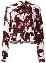MSGM floral print longsleeved blouse