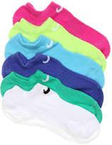 Nike Girls Lightweight Performance Kids No Show Socks - 6 Pack -Multicolor