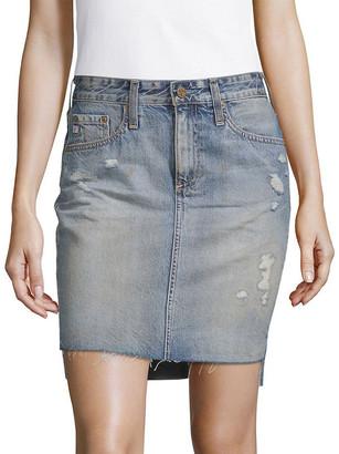AG Jeans High-Low Denim Pencil Skirt