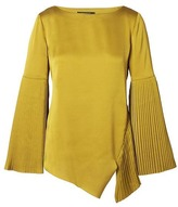 Banana Republic x Olivia Palermo | Pleated Bell-Sleeve Top