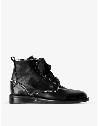 Zadig & Voltaire Laureen Roma stud-embellished leather ankle boots