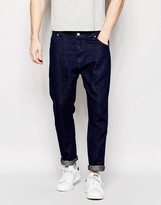 Asos Bow Leg Jeans In Indigo In Drapey fabric