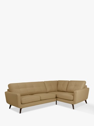 John Lewis & Partners Barbican RHF Corner End Leather Sofa, Dark Leg