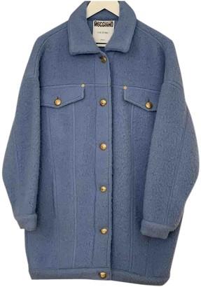 Moschino Blue Wool Coats