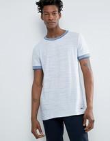 BOSS ORANGE by Hugo Boss Slub Ringer T-Shirt Regular Fit in White