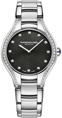 Raymond Weil Noemia Diamond Embellished Silvertone Watch