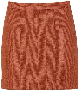 Giuliva Heritage Collection The Theo Wool Herringbone Mini Skirt